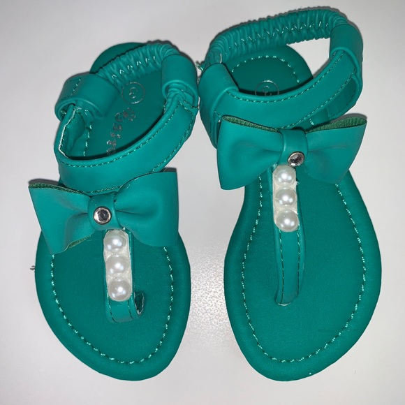 Other - Teal sandals with beads size 3